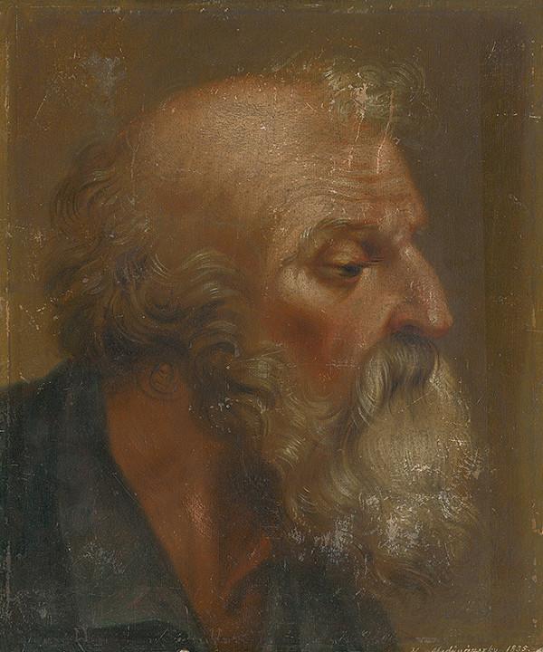 H. Mednyánszky – Štúdia hlavy apoštola