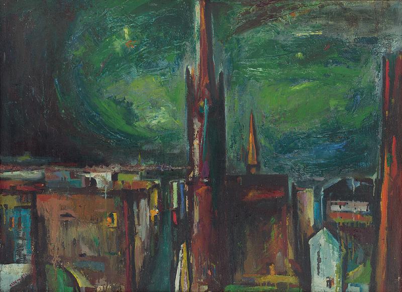 Viliam Chmel – Mesto, 1946, Slovenská národná galéria