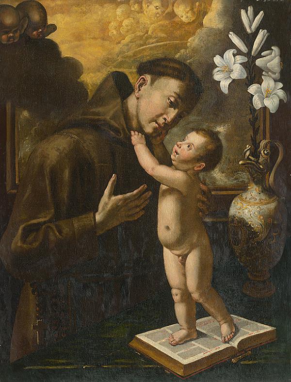Taliansky maliar z 18. storočia – Svätý Anton Paduánsky s malým Ježiskom
