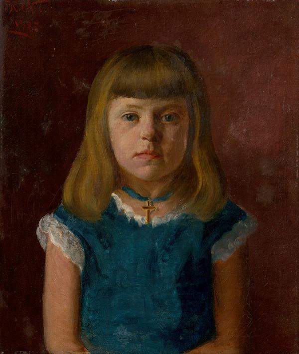 Ferdinand Katona – Podobizeň dievčatka Gizela Dollerová ako 5-ročná