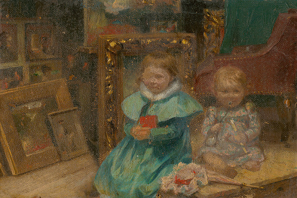 Maximilián Kurth - Umelcove deti v ateliéri