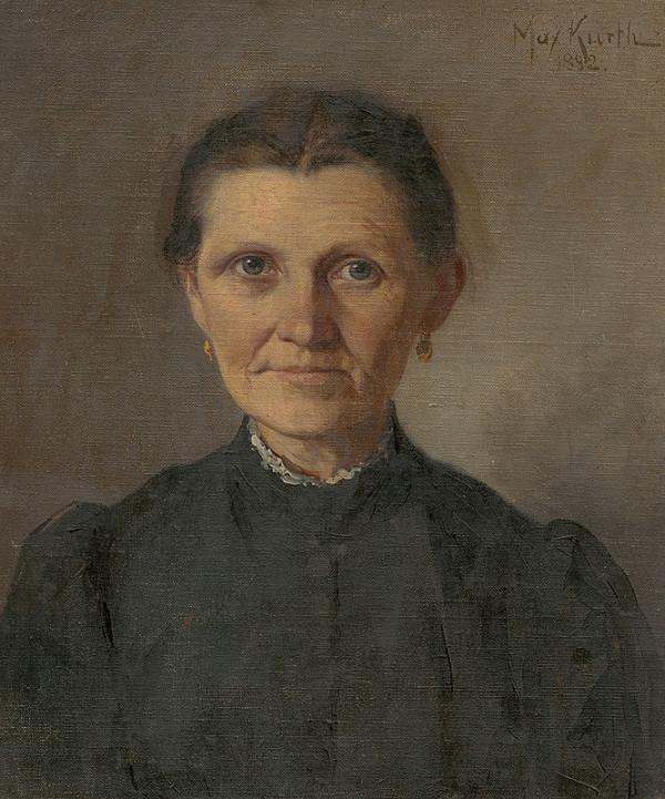 Maximilián Kurth – Portrét starej ženy - umelcova matka