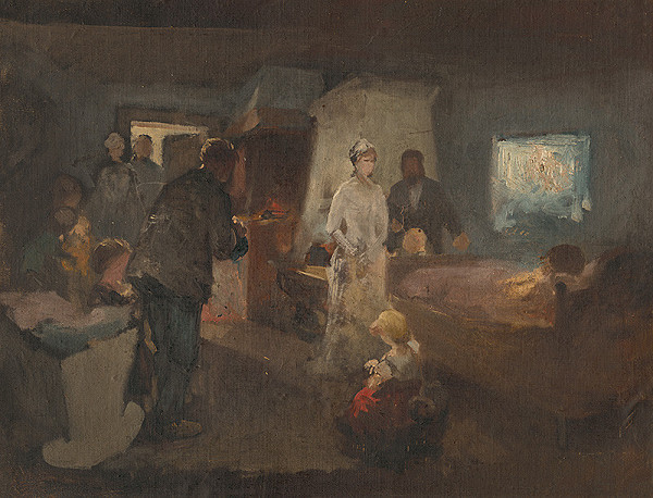 Maximilián Kurth – Štúdia k obrazu Chorá matka