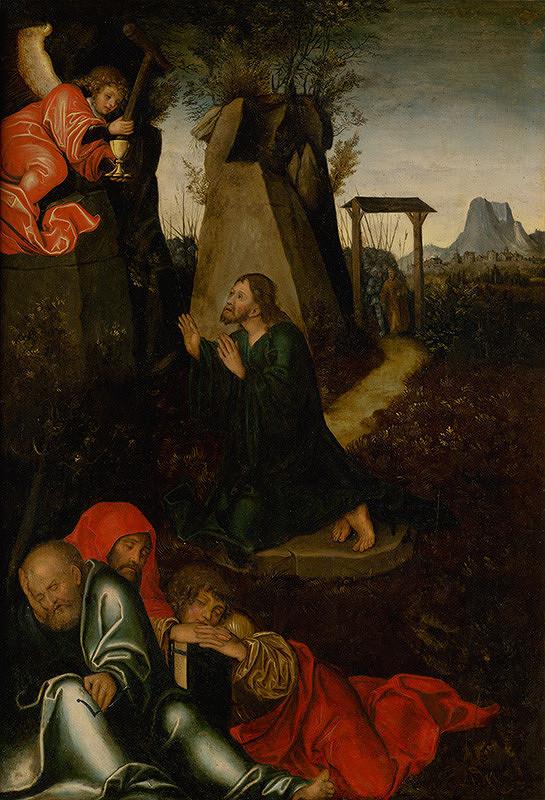 Nemecký maliar z 2. tretiny 16. storočia – Kristus na hore olivetskej