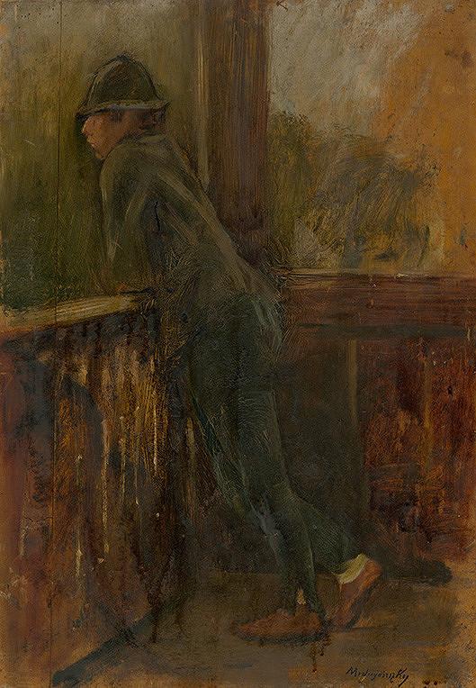 Ladislav Mednyánszky – Chlapec na verande