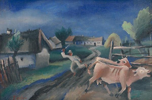 Štefan Prohászka-Tallós – Na dedine