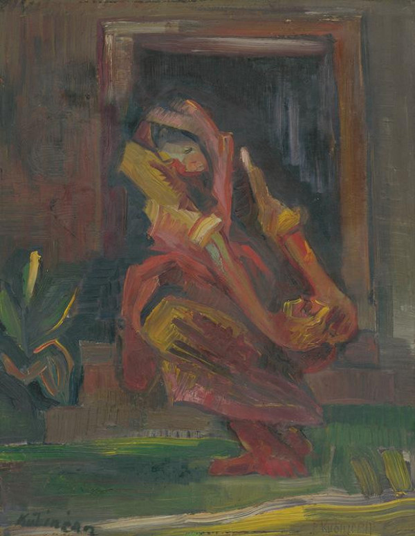 Arnold Peter Weisz-Kubínčan – Sediaca žena