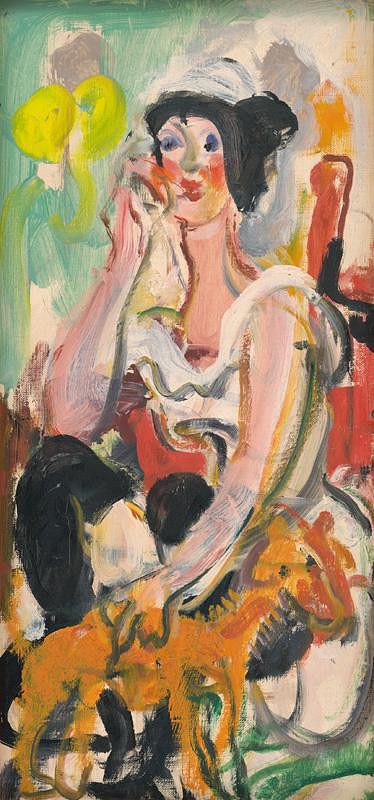 Július Jakoby – Žena so žltým psíkom