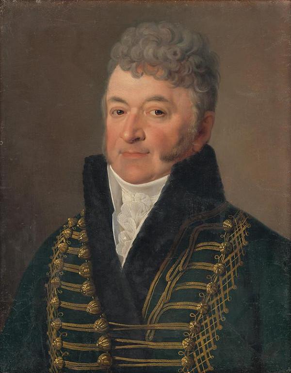 Anton Einsle - Portrét muža s bielym golierom