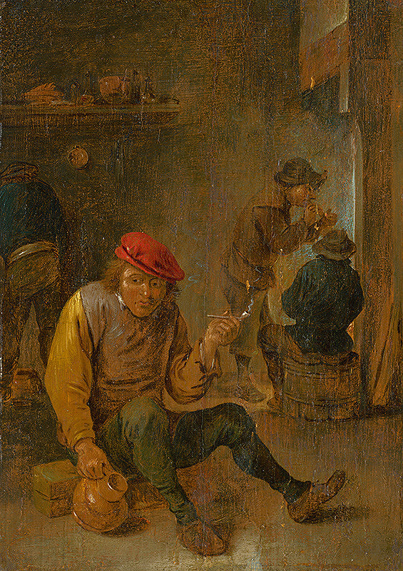 David Teniers, Holandský Rotterdamský maliar z polovice 17. storočia - Fajčiari fajok