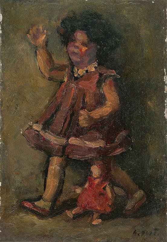 Gustáv Gerö – Dievčatko s bábikou
