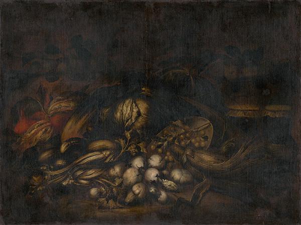 Taliansky maliar z 2. polovice 17. storočia - Zátišie so zeleninou