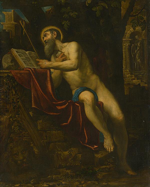 Taliansky maliar okolo 1600, Domenico Tintoretto - Svätý Hieroným