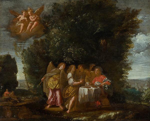 Flámsky maliar z 1. polovice 17. storočia - Kristus obsluhovaný anjelmi