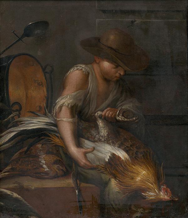 Neapolský maliar zo 17. - 18. storočia, Taliansky maliar zo 17. storočia – Chlapec s hydinou
