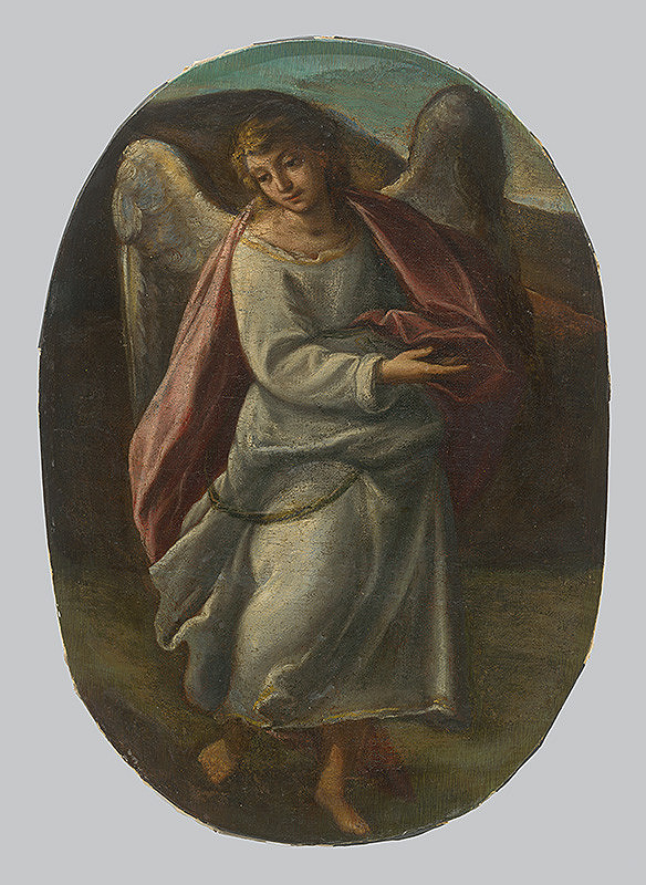 Taliansky maliar zo 17. storočia - Fragment anjela z oltárneho obrazu