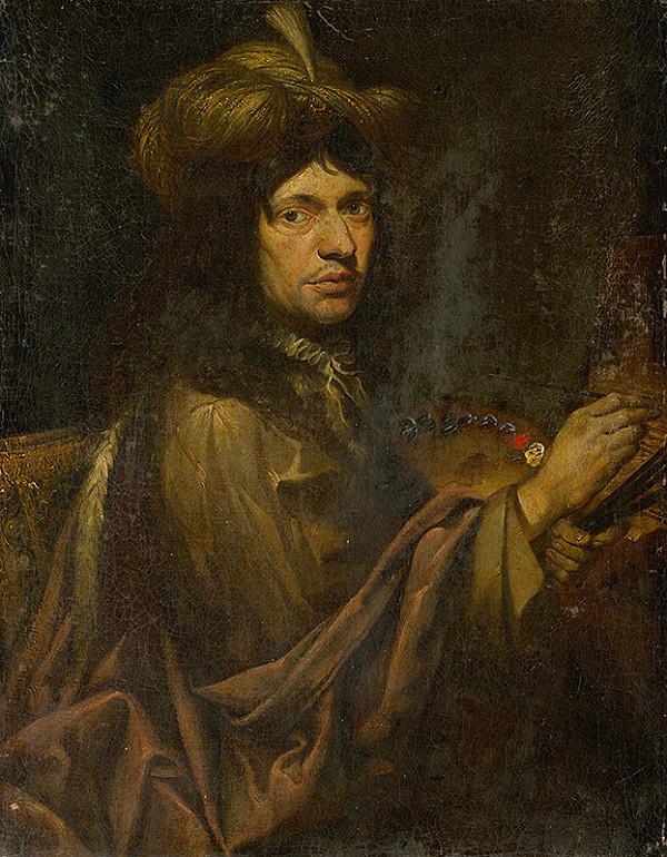 Nemecký kopista z 1. polovice 18. storočia - Vlastná podobizeň umelca v turbane