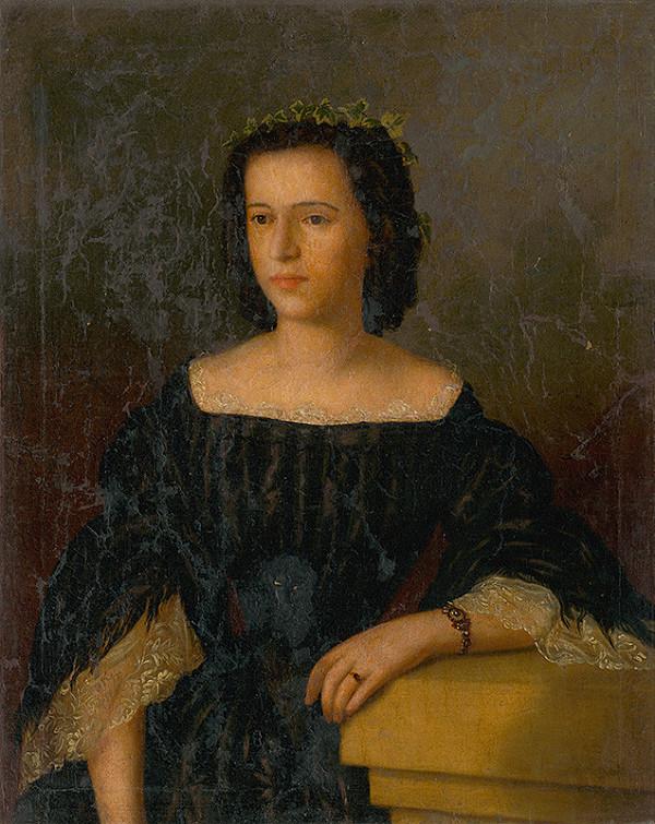 Bratislavský maliar z 19. storočia - Podobizeň mladej ženy