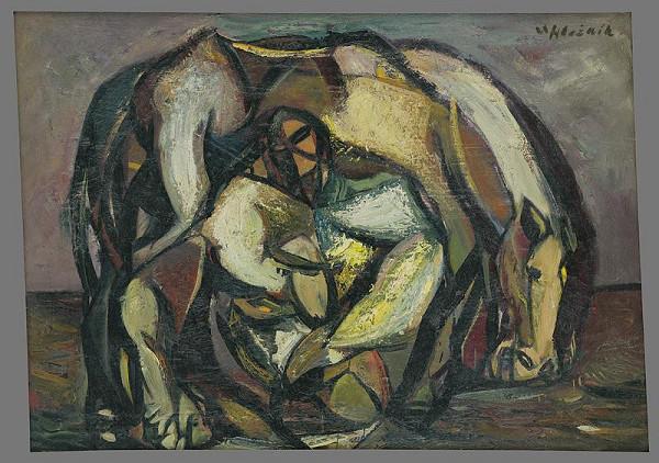 Vincent Hložník – Muž s koňom