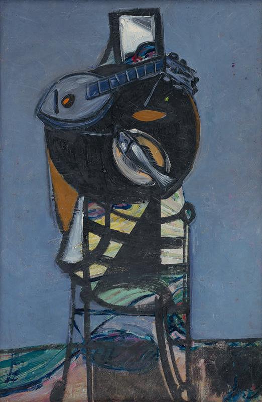 Vincent Hložník – Zátišie s rybkou