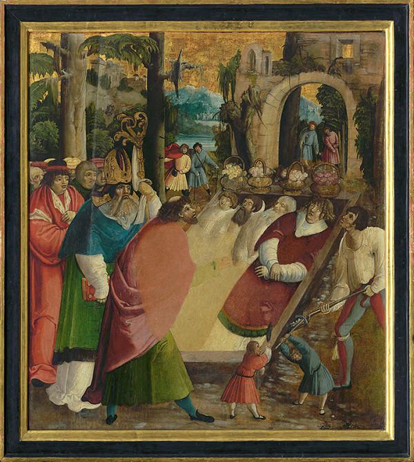 Juhonemecký maliar z 1. tretiny 16. storočia, Neznámy autor - Nájdenie hrobu sv. Štefana, protomartýra