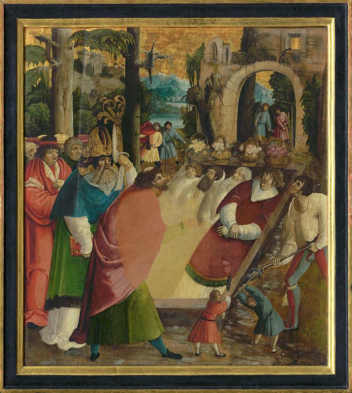 Juhonemecký maliar z 1. tretiny 16. storočia – Nájdenie hrobu sv. Štefana protomartýra, 1515–1520, Slovenská národná galéria