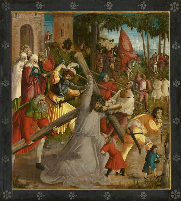 Juhonemecký maliar z 1. tretiny 16. storočia, Neznámy autor – Nesenie kríža