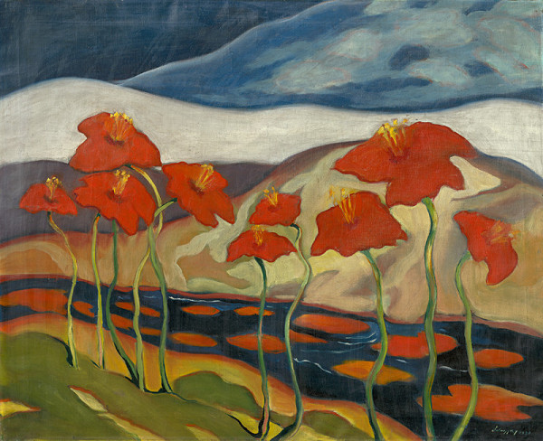 Zolo Palugyay – Krajina s kvetmi