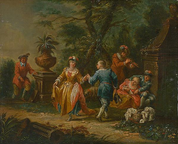 Francúzsky maliar z 2. polovice 18. storočia – Galantná scéna
