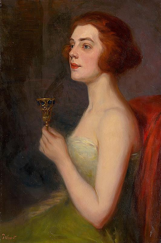 Ľudovít Pitthordt - Žena s čašou