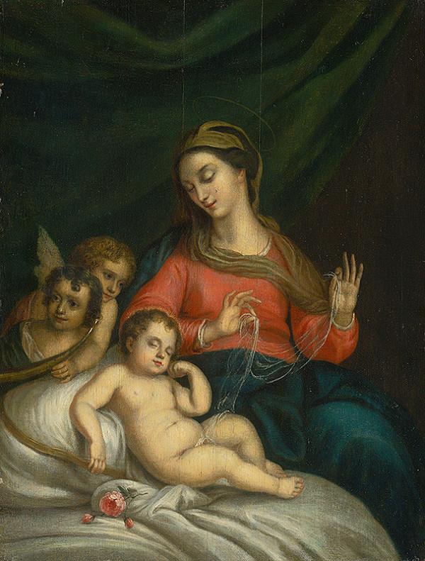 Taliansky maliar zo 17. storočia – Mária s Ježiškom