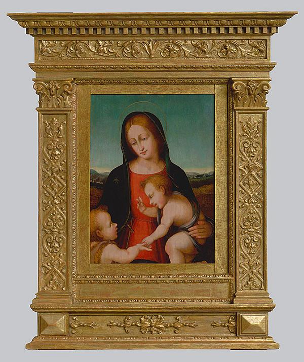 Severotaliansky maliar okolo polovice 16. storočia – Madona s dieťaťom a malým Jánom Krstiteľom