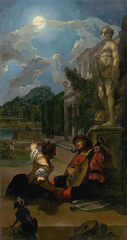 Taliansky maliar z konca 18. storočia, Anglický maliar z konca 18. storočia - Podvečerná idyla