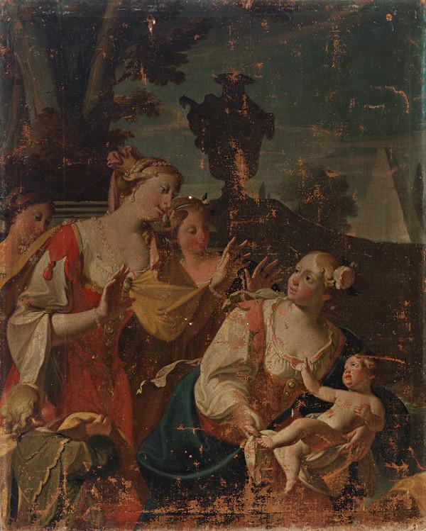 Stredoeurópsky maliar z konca 18. storočia – Nájdenie Mojžiša