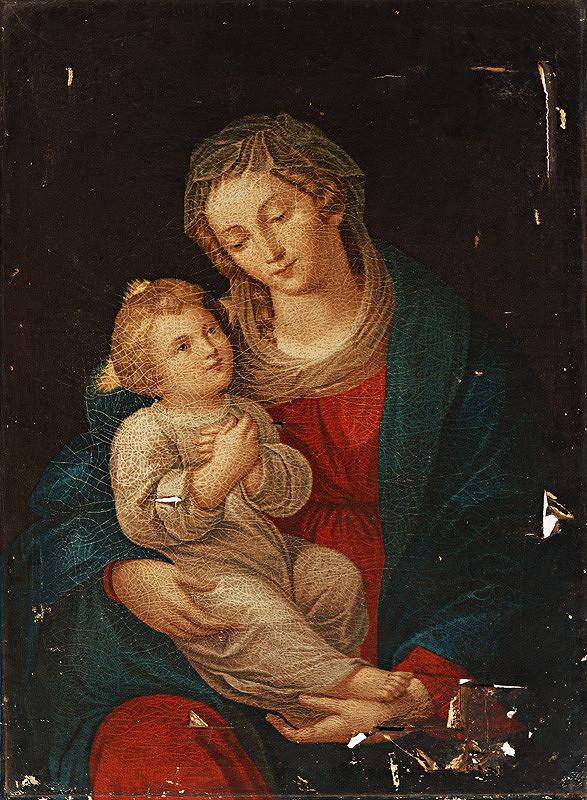 Stredoeurópsky maliar z 19. storočia - Madona s dieťaťom