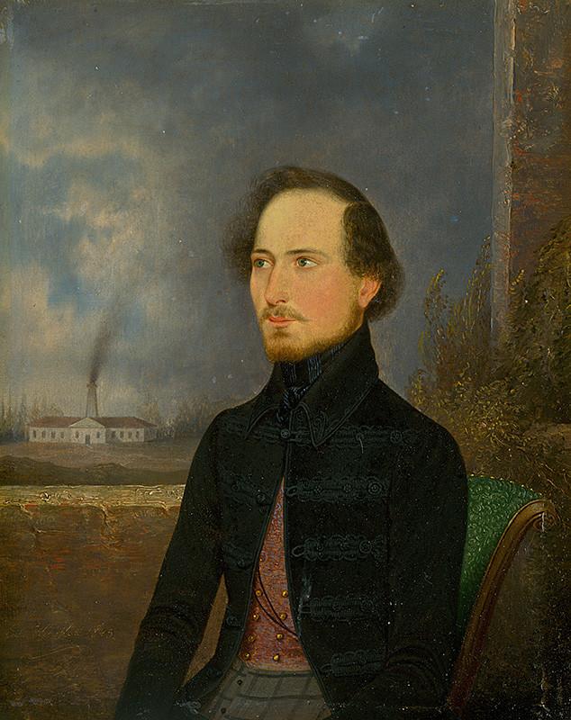 Eduard Wirostek – Podobizeň J.Stróbla, 1843, Slovenská národná galéria