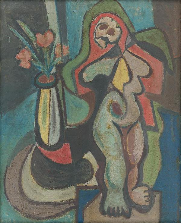 Jakub Bauernfreund - Žena s vázou