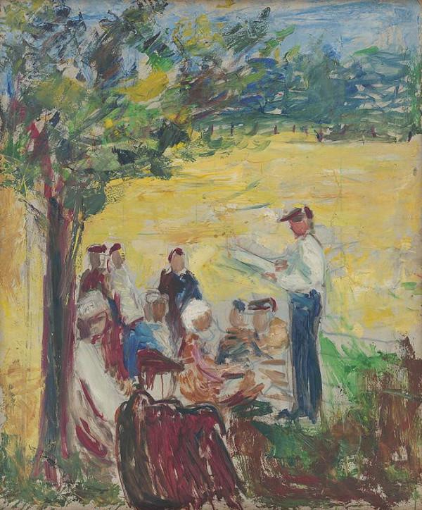 Ernest Špitz - Figurálna scéna pod stromom