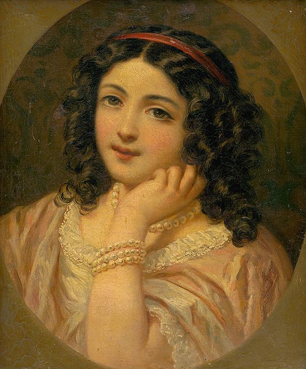 Stredoeurópsky maliar z 19. storočia - Podobizeň dievčatka