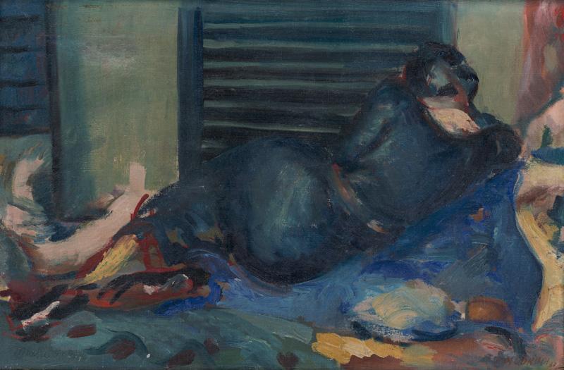 Ján Mudroch – Lettrice, 1937, Slovenská národná galéria