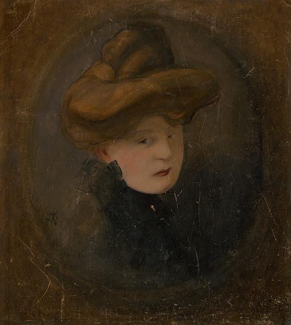 Alexander Kubínyi - Portrét ženy