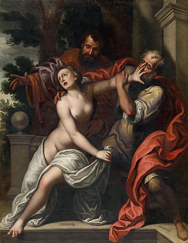 Benátsky maliar zo 16. storočia - Zuzana a dvaja starci - kópia