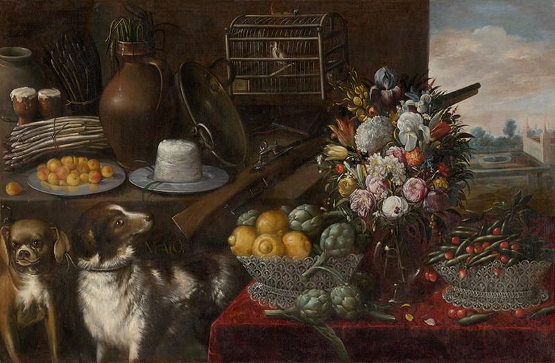 Francisco Barrera – Alegória mesiaca máj, 1640 – 1645, Slovenská národná galéria