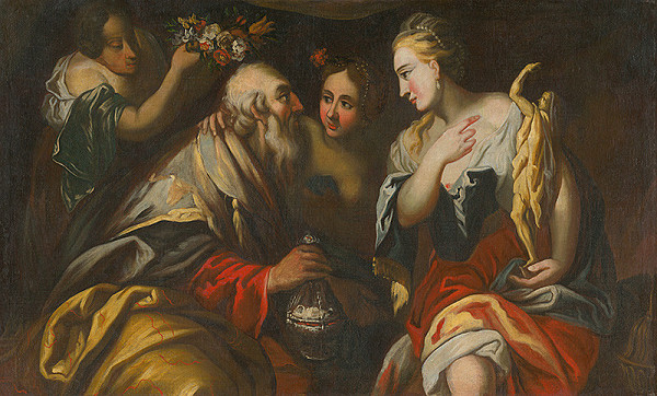 Taliansky maliar z 18. storočia, Taliansky maliar zo 16. storočia - Lót s dcérami