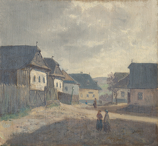 Jan Novopacký - Dedinské námestie