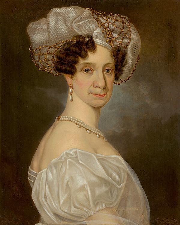 Jean Lestyan - Portrét staršej dámy