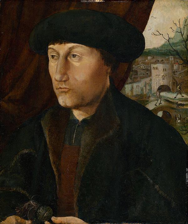 Kolínsky majster, Nizozemský maliar z 1. polovice 16. storočia, Jan van Scorel - Podobizeň muža s ružencom