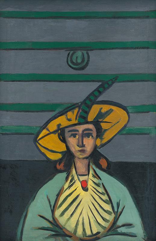Eugen Nevan – Žena v žltom klobúku