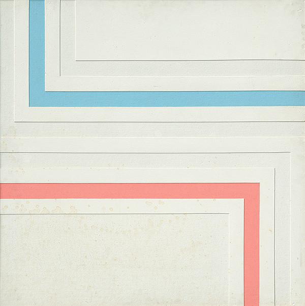 Eduard Antal - Kompozícia s červenou a modrou