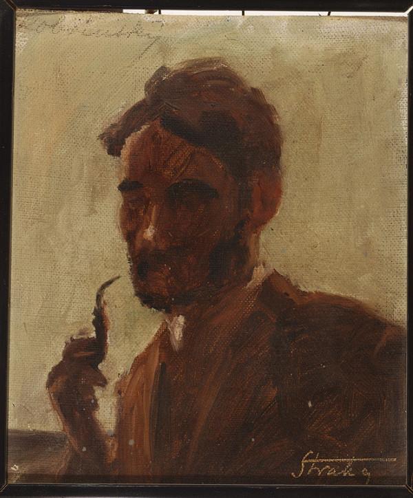Štefan Straka – Štúdia muža s fajkou